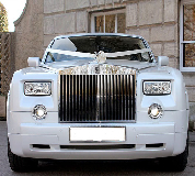 Rolls Royce Phantom - White hire  in England
